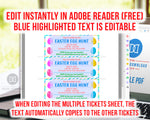 Event Ticket Editable Printable- Easter Egg Hunt