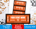 Halloween Event Ticket Printable Editable
