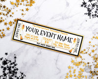 New Year's Event Ticket Template Printable