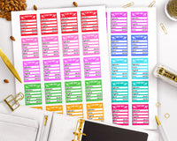 Flight Info Printable Planner Stickers- The Digital Download Shop