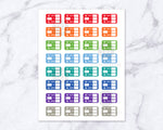 Printable planner stickers- flight tracker stickers for any planner, including Erin Condren's Life Planner. Use these to record your flight information and plan your travel!
