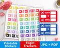 Flight Tracker Printable Planner Stickers