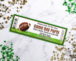 Football Event Ticket Template Printable