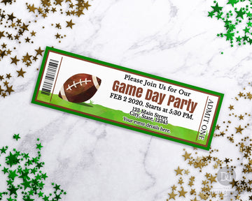 Football Event Ticket Template Printable *EDIT ONLINE*
