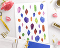 Galaxy Crystals Printable Planner Stickers