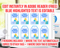 Editable and printable birthday gift tags with a cute blue owl. These editable tags would make lovely finishing touches to birthday presents for a boy's owl themed birthday party!
