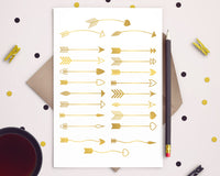 22 Gold Arrows Clipart