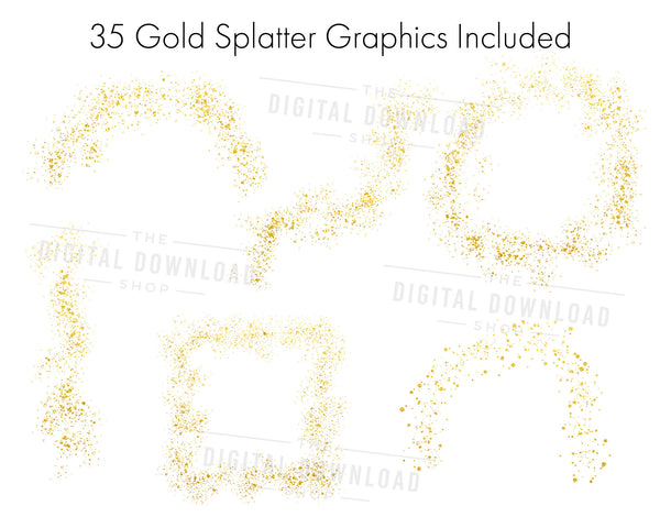 Gold Splatters Clipart