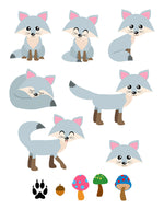Gray Foxes Clipart