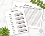 2 Habit Tracker Printables- Creating habits requires consistency. Ensure your new habits will stick by tracking them with these 2 printable habit trackers! | how to start new habits, create new good habits, self care tracker, healthy habits, #habitTracker #planner #DigitalDownloadShop