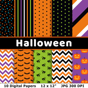 Halloween Digital Papers 3