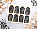 Halloween Tags Template Printable- Gravestones *EDIT ONLINE*