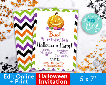 Halloween Party Invitation Template Printable *EDIT ONLINE*