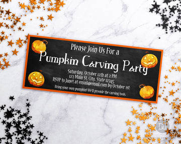 Halloween Carving Party Invitation Printable *EDIT ONLINE*