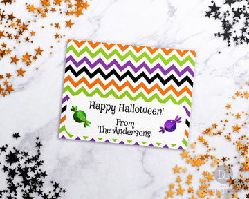 Halloween Editable Treat Bag Topper Printable- Candy *EDIT ONLINE*