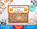 Editable Halloween Treat Bag Topper Printable- Pumpkins *EDIT ONLINE*