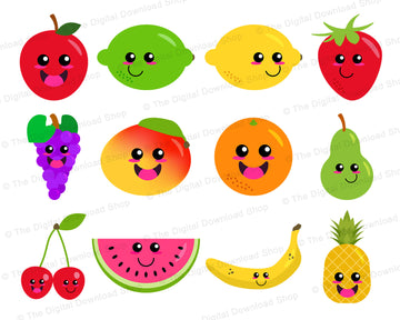 Happy Fruit Clipart