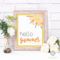 Hello Summer Printable Wall Art- Sun