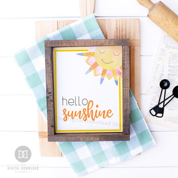 Hello Sunshine Printable Wall Art- Sun
