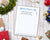 Holiday Shopping List Printable