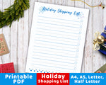 This holiday season, make sure you won't forget to get a gift for anyone by using this handy shopping list! | Christmas shopping, gift list, present checklist, #Christmas #printable #DigitalDownloadShop