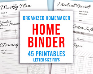 Home Management Binder Printable