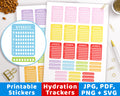 Weekly Hydrate Printable Planner Stickers