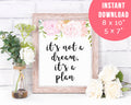 It's Not a Dream It's a Plan Motivational Printable