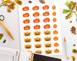 Jack O'Lantern Halloween Planner Stickers - The Digital Download Shop