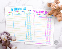 Kids Reading Log Printable
