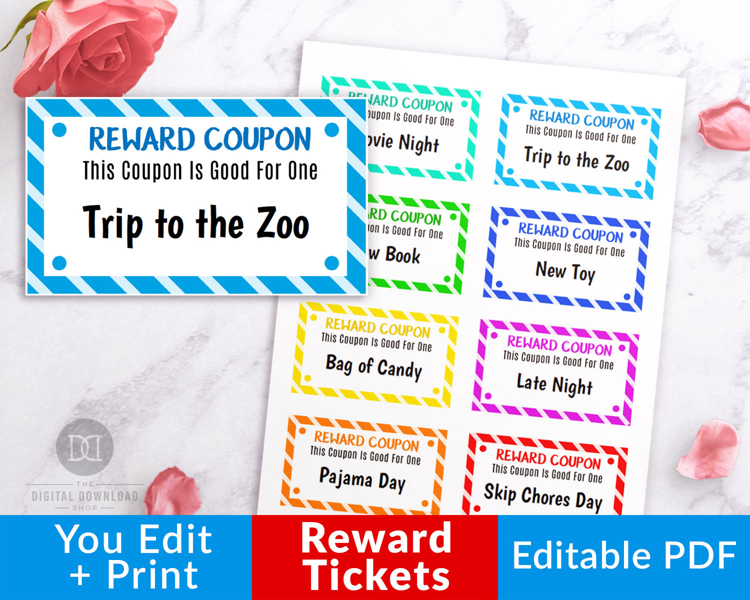 photograph relating to Printable Reward Tickets referred to as Children Gain Tickets Editable Printable
