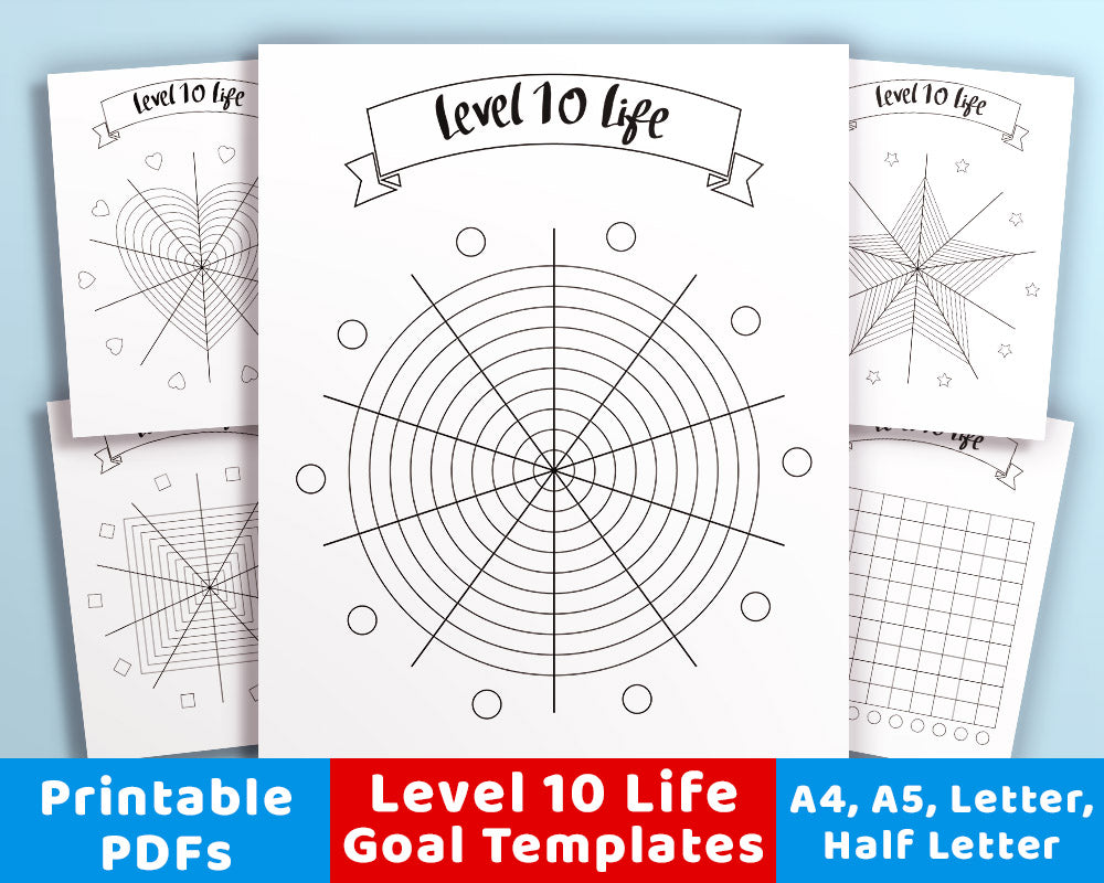 This is a graphic of Candid Level 10 Life Printable