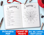 Level 10 Life Heart Printable- The Digital Download Shop
