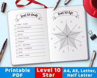 Level 10 Life Star Printable- The Digital Download Shop