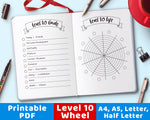 Level 10 Life Wheel Printable- The Digital Download Shop
