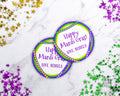Mardi Gras Labels Printable Template- Beads *EDIT ONLINE*
