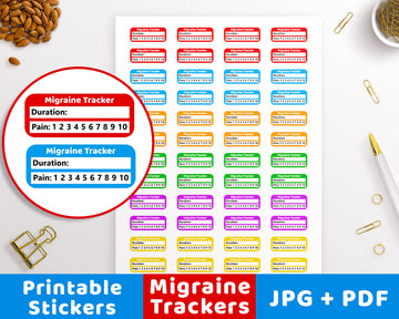 Migraine Tracker Printable Planner Stickers
