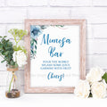 Mimosa Bar Printable- Blue
