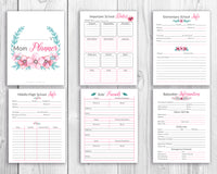 Mom Planner Printable- Watercolor Florals