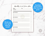 Monthly goal action plan printable