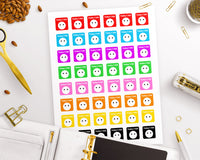 Mood Tracker Printable Planner Stickers- The Digital Download Shop