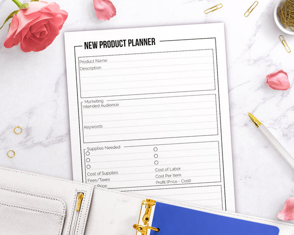 New Product Planner Printable