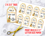 New Year's Tags Editable Template- Champagne