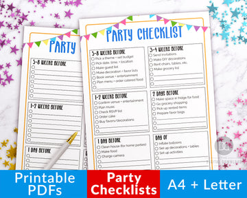 Party Checklists Printables