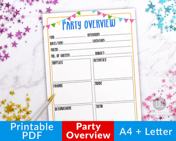 Party Planner Printable- Overview