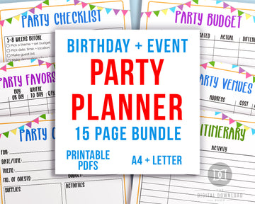 Party Planner Printable Bundle