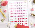 Cute Period Tracker Printable Planner Stickers