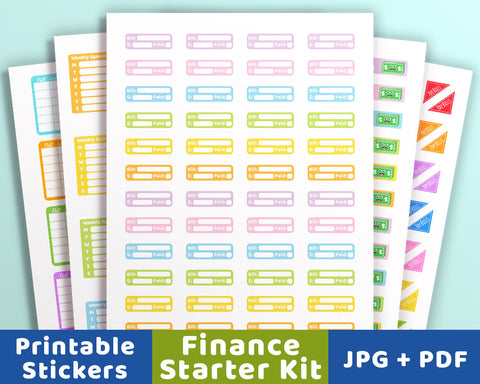 Planner Starter Kit- Financial Stickers - The Digital Download Shop