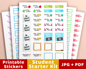 Planner Starter Kit- Student Stickers