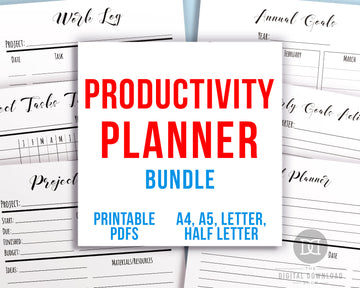 Productivity Planner Printable Bundle